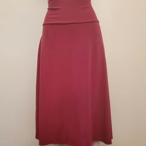 Lularoe Azure Skirt XL Cranberry